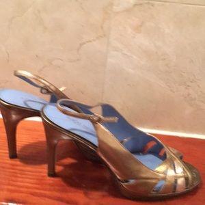 Bisou Bisou Rose gold/ Gold Heels size 8M